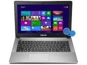 "ASUS Laptop 90NB0279-M03670 Intel Pentium dual-core 2117U (1.80 GHz) 4 GB Memory 500 GB HDD Intel HD Graphics 14.0"" Touchscreen Windows 8 64-bit"