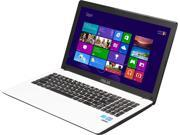 "ASUS D550MA-RS01-WH Notebook Intel Bay Trail-M Celeron N2815 (1.86GHz) 4GB Memory 500GB HDD Intel HD Graphics 15.6"" Windows 8 64-Bit"