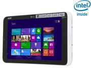 "Acer Iconia Tab W Series W3-810-1600 Intel Atom 2GB DDR2 Memory 32 GB 8.1"" Touchscreen Tablet Windows 8"