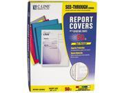 "C-line 32550 Report Cover, Binding Bar, Letter, 1/8"" Capacity, 50/Box"