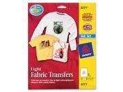 "AVERY 3271 T-shirt Transfers for Inkjet Printers 8-1/2"" x 11"", 6 / Pack"