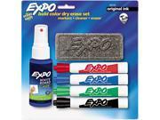 EXPO 83153 Dry Erase Starter Set, Chisel Tip, Assorted, 4/Set