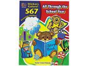 Teacher Created Resources 4229 Sticker Book, All Through the School Year, 567/Pack