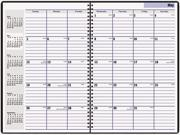 """DayMinder Premiere AY2-00 Recycled Monthly Planner, Black, 7 7/8"""" x 11 7/8"""""""