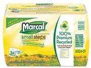 Marcal Small Steps 6024 100% Recycled Convenience Bundle Bathroom Tissue, 168 Sheets, 24 Rolls/Carton