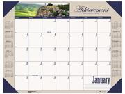 House Of Doolittle HOD175 Earthscapes Motivational Photographic Monthly Desk Pad Calendar, 22 x 17