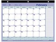Rediform Brownline Monthly Desk Pad Calendar
