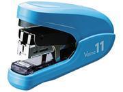 Max HD92320 Flat Clinch Light Effort Stapler, 35-Sheet Capacity, Blue