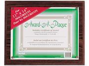 Nu-Dell 18823M Award-A-Plaque Document Holder, 11 x 14, Mahogany