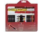 Sheaffer 73404 Calligraphy Pen Set, Maxi Kit, 4 Nibs