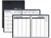 House of Doolittle 28302 Wirebound Weekly/Monthly Planner, 8-1/2 x 11, Black Leatherette