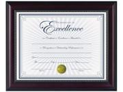 "DAX N3028N2T Prestige Document Frame, Rosewood/Black, Gold Accents, Certificate, 8 1/2 x 11"""