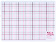 Chartpak WCM812 Self-Healing Cutting Mat, 8 1/2 x 12, White Translucent W/Red Lines