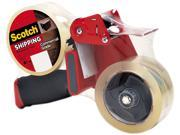 """Scotch 3750-2ST Packaging Tape Dispenser with 2 Rolls of Tape, 1.88"""" x 54.6 yards"""