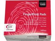 LEE 03127 Inkless Fingerprint Pad, 2-1/4 x 1-3/4, Black, Dozen