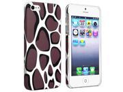 Insten Warm Grey Leopard Clip-on Rubber Coated Case + 2 LCD Kit Screen Protector Compatible With Apple iPhone 5 / 5s 964312