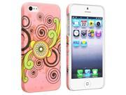 Insten Snap-on Rubber Coated Case Cover Compatible with Apple iPhone 5 / 5S, Flower Rear Style 64