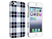 Insten Checker Style 2 Snap-on Rubber Coated Case Cover + Privacy Screen Cover for Apple iPhone 5