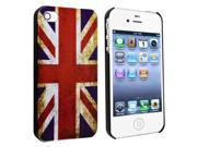 Insten Snap-on Case Cover Compatible with Apple iPhone 4 / 4S, UK Flag