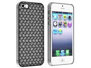 Insten Clip-on Case Cover Compatible With Apple iPhone 5 / 5s, Black Twill 895154