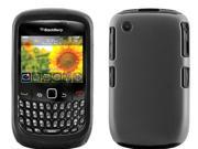 BlackBerry Curve 2/8520/8530/9300 Black Skin with Dark Gray Rubber 2-in-1 Hybrid Case