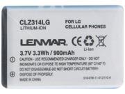 Lenmar 900mAh Battery for LG Cell Phone CLZ314LG