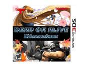 Dead or Alive Dimensions Nintendo 3DS Game