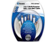 Swann SWPRO-15MCAB-GL 3-in-1 Multi-Purpose 50ft / 15m BNC Cable