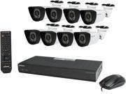 Samsung SDS-P4080 8 Channel DVR Security System w/ 8 x 600TVL True Day & Night Outdoor Camera