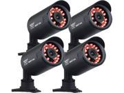Night Owl CAM-4PK-650 650 TV Lines MAX Resolution BNC 4 pack of Indoor/Outdoor 650 TVL Security Bullet Cameras with 50ft. of Night Vision
