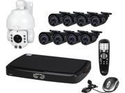 Night Owl B-A720-162-8-1PTZ 16 Channel 16 Channel HD (AHD) Video Security System with 2 TB HDD, 8 x 720p HD Bullet Cameras