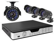 Zmodo PKD-DK4216-500GB 4CH 960H DVR w/ 500GB HDD and 4 x 600TVL Day/Night Outdoor Cameras 3G Mobile Access Surveillance Kit
