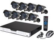 Zmodo KDH6-CARQZ8ZN-1T 16 Channel H.264 DVR Kit (1TB HDD), 8 X 600TVL, 3.6mm Wide Angle Lens, 24 IR LEDs for 65ft Night Vision