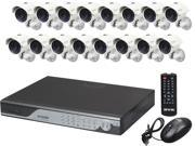 Zmodo KDC6-YARUZ6ZN-2T 16 Channel H.264 Level 960H DVR Security System with 16 x 700TVL Night Vision w/IR Cut Outdoor Cameras (2TBHDD)
