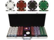 Generic 500 14g 3 COLOR A/K SUITED CLAY POKER CHIP SET W/ALUM CASE