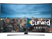 "Samsung - 48"" Class (54.6"" Diag.) - LED - Curved - 2160p - Smart - 3D - 4K Ultra HD TV - Silver"