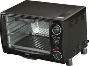 Rosewill RHTO-13001 6 Slice Black Toaster Oven Broiler with Drip Pan