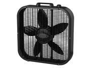 LASKO B20401 20in Box Fan 3spd Black
