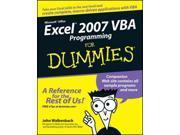 Excel 2007 VBA Programming for Dummies For Dummies Walkenbach, John