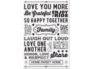 Family Rules Peel & Stick Wall Decal Set BOX STK UN