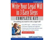 Write Your Legal Will in 3 Easy Steps 3 PAP/CDR