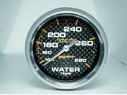 Auto Meter Carbon Fiber Mechanical Water Temperature Gauge