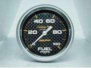 Auto Meter 4863 Carbon Fiber Electric Fuel Pressure Gauge