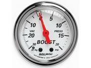 Auto Meter Arctic White Mechanical Boost/Vacuum Gauge