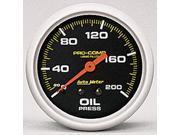 Auto Meter Pro-Comp Liquid-Filled Mechanical Oil Pressure Gauge