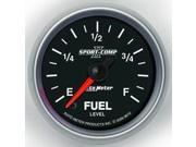 Auto Meter Sport-Comp II Programmable Fuel Level Gauge
