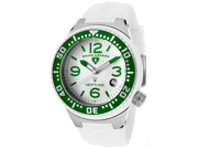 Neptune (44 mm) White Silicone White Dial Green Bezel