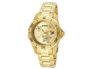 Invicta Women's Pro Diver Gold Tone Diver 18k Gold Plated Stainless Steel