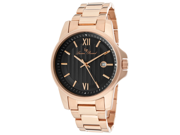 Breithorn Rose-Tone Stainless Steel Black Textured Dial