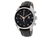 Tag Heuer Men's Carrera Chronograph Automatic Black Dial Black Genuine Leather